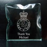 Military Crest Small Award Army Navy RAF PERSONALISED ref GBM1